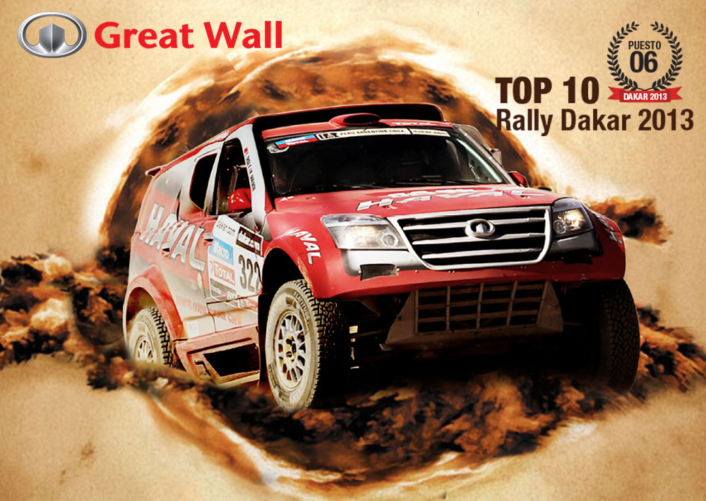 GREAT WALL TOP 10 RALLY DAKAR 2013