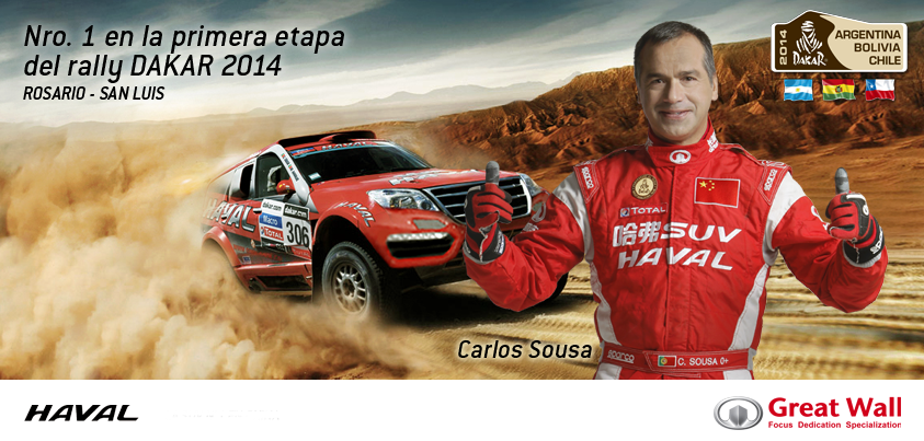 Great Wall N�1 En la primera etapa del Rally Dakar 2014